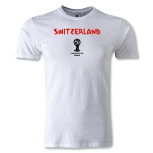 Switzerland 2014 FIFA World Cup Brazil(TM) Men's Premium Core T-Shirt (White)