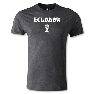 Ecuador 2014 FIFA World Cup Brazil(TM) Men's Premium Core T-Shirt (Dark Grey)