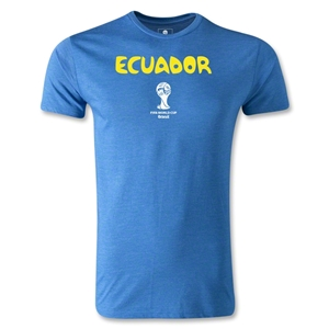 Ecuador 2014 FIFA World Cup Brazil(TM) Men's Premium Core T-Shirt (Heather Royal)