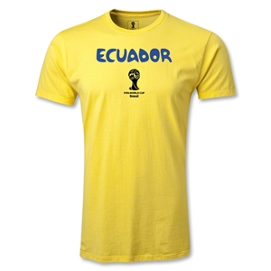 Ecuador 2014 FIFA World Cup Brazil(TM) Men's Premium Core T-Shirt (Yellow)