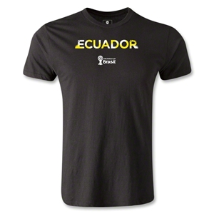 Ecuador 2014 FIFA World Cup Brazil(TM) Men's Premium Palm T-Shirt (Black)