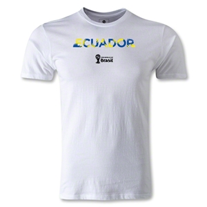 Ecuador 2014 FIFA World Cup Brazil(TM) Men's Premium Palm T-Shirt (White)