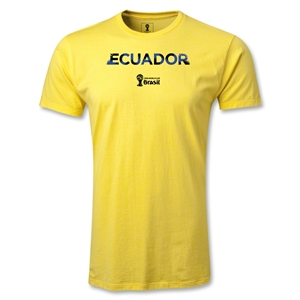 Ecuador 2014 FIFA World Cup Brazil(TM) Men's Premium Palm T-Shirt (Yellow)