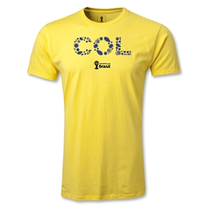 Colombia 2014 FIFA World Cup Brazil(TM) Men's Premium Elements T-Shirt (Yellow)