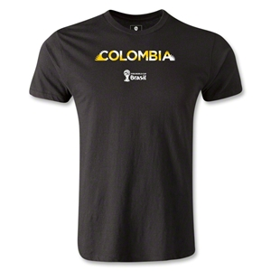 Colombia 2014 FIFA World Cup Brazil(TM) Men's Premium Palm T-Shirt (Black)