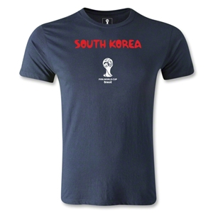 South Korea 2014 FIFA World Cup Brazil(TM) Men's Premium Core T-Shirt (Navy)