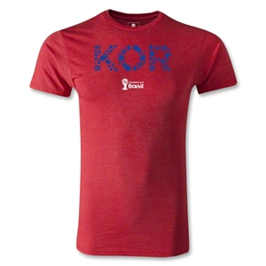South Korea 2014 FIFA World Cup Brazil(TM) Men's Premium Elements T-Shirt (Heather Red)