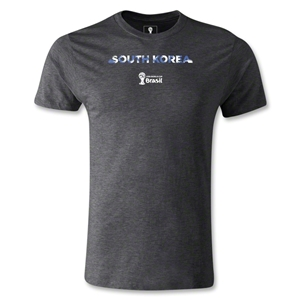 South Korea 2014 FIFA World Cup Brazil(TM) Men's Premium Palm T-Shirt (Dark Gray)
