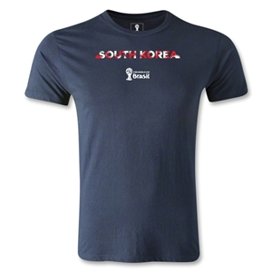 South Korea 2014 FIFA World Cup Brazil(TM) Men's Fashion Palm T-Shirt (Navy)