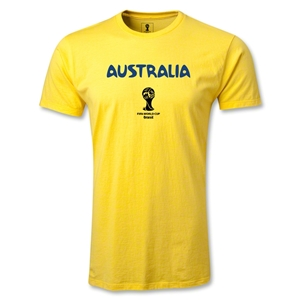 Australia 2014 FIFA World Cup Brazil(TM) Core Men's Fashion T-Shirt (Yellow)
