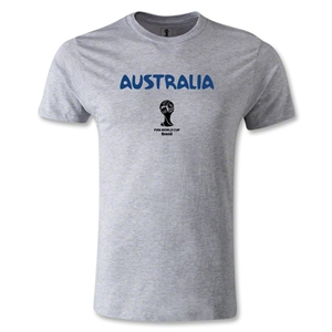 Australia 2014 FIFA World Cup Brazil(TM) Men's Fashion Core T-Shirt (Gray)