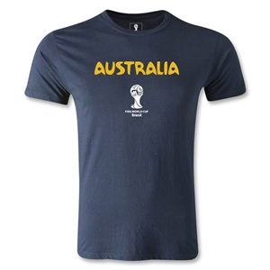 Australia 2014 FIFA World Cup Brazil(TM) Men's Fashion Core T-Shirt (Navy)