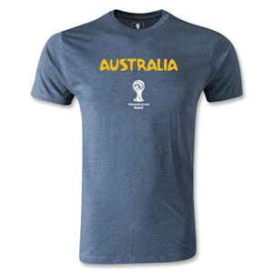 Australia 2014 FIFA World Cup Brazil(TM) Men's Premium Core T-Shirt (Blue)