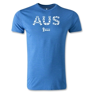 Australia 2014 FIFA World Cup Brazil(TM) Men's Fashion Elements T-Shirt (Heather Royal)