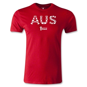 Australia 2014 FIFA World Cup Brazil(TM) Men's Premium Elements T-Shirt (Red)