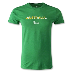Australia 2014 FIFA World Cup Brazil(TM) Men's Premium Palm T-Shirt (Green)
