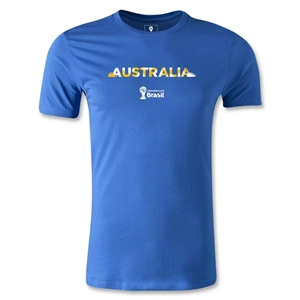 Australia 2014 FIFA World Cup Brazil(TM) Men's Premium Palm T-Shirt (Royal)