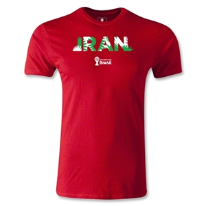 Iran 2014 FIFA World Cup Brazil(TM) Men's Fashion Palm T-Shirt (Red)