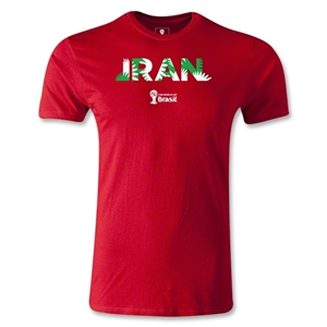 Iran 2014 FIFA World Cup Brazil(TM) Men's Premium Palm T-Shirt (Red)