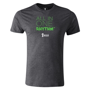 2014 FIFA World Cup Brazil(TM) Men's Fashion All In One Rhythm T-Shirt (Dark Gray)