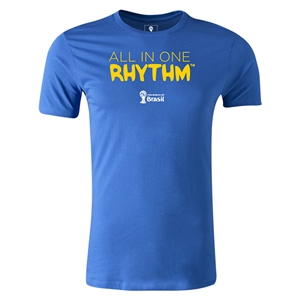 2014 FIFA World Cup Brazil(TM) Men's Fashion All In One Rhythm T-Shirt (Royal)