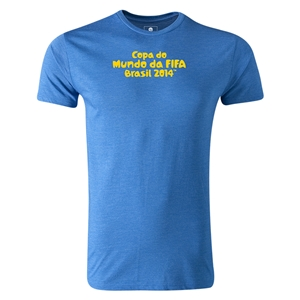 2014 FIFA World Cup Brazil(TM) Men's Premium Portugese Logotype T-Shirt (Heather Royal)