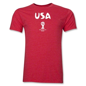 USA 2014 FIFA World Cup Brazil(TM) Men's Premium Core T-Shirt (Heather Red)