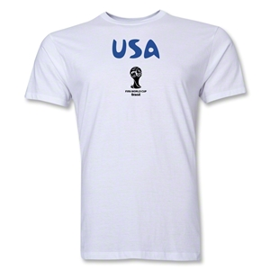 USA 2014 FIFA World Cup Brazil(TM) Men's Premium Core T-Shirt (White)