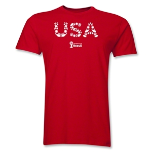 USA 2014 FIFA World Cup Brazil(TM) Men's Premium Elements T-Shirt (Red)