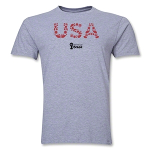 USA 2014 FIFA World Cup Brazil(TM) Men's Premium Elements T-Shirt (Grey)
