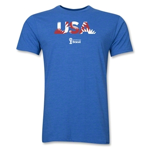 USA 2014 FIFA World Cup Brazil(TM) Men's Premium Palm T-Shirt (Heather Royal)