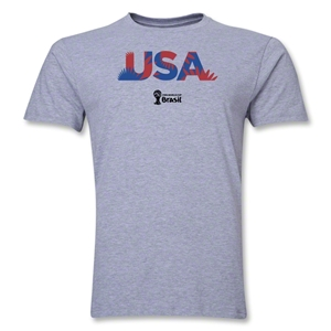 USA 2014 FIFA World Cup Brazil(TM) Men's Premium Palm T-Shirt (Grey)
