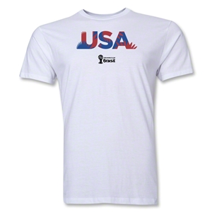 USA 2014 FIFA World Cup Brazil(TM) Men's Premium Palm T-Shirt (White)