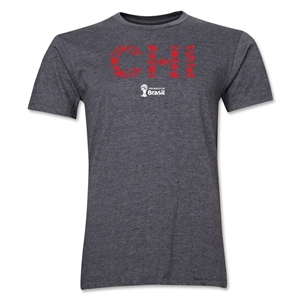 Chile 2014 FIFA World Cup Brazil(TM) Men's Premium Elements T-Shirt (Dark Grey)