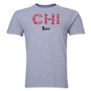 Chile 2014 FIFA World Cup Brazil(TM) Men's Premium Elements T-Shirt (Grey)