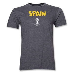 Spain 2014 FIFA World Cup Brazil(TM) Men's Premium Core T-Shirt (Dark Grey)