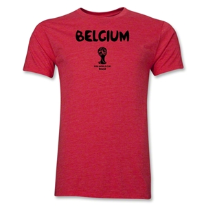 Belgium 2014 FIFA World Cup Brazil(TM) Men's Premium Core T-Shirt (Heather Red)