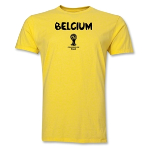 Belgium 2014 FIFA World Cup Brazil(TM) Men's Premium Core T-Shirt (Yellow)