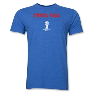Costa Rica 2014 FIFA World Cup Brazil(TM) Men's Premium Core T-Shirt (Heather Blue)