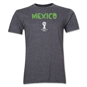 Mexico 2014 FIFA World Cup Brazil(TM) Men's Premium Core T-Shirt (Dark Grey)