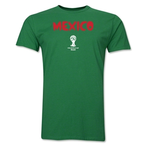 Mexico 2014 FIFA World Cup Brazil(TM) Men's Premium Core T-Shirt (Green)