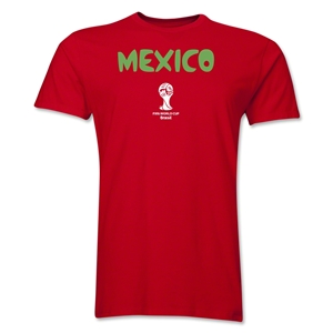 Mexico 2014 FIFA World Cup Brazil(TM) Men's Premium Core T-Shirt (Red)