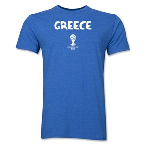 Greece 2014 FIFA World Cup Brazil(TM) Men's Premium Core T-Shirt (Heather Royal)