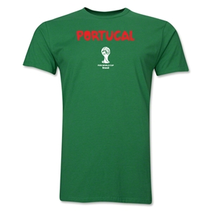 Portugal 2014 FIFA World Cup Brazil(TM) Men's Premium Core T-Shirt (Green)