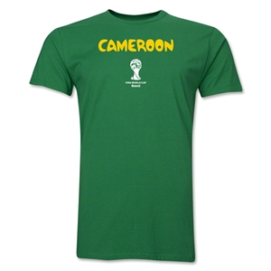 Cameroon 2014 FIFA World Cup Brazil(TM) Men's Premium Core T-Shirt (Green)