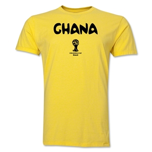 Ghana 2014 FIFA World Cup Brazil(TM) Men's Premium Core T-Shirt (Yellow)