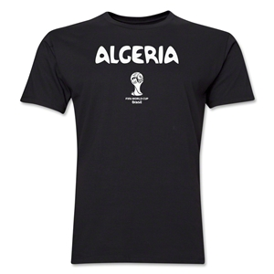 Algeria 2014 FIFA World Cup Brazil(TM) Men's Premium Core T-Shirt (Black)