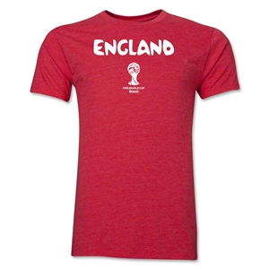 England 2014 FIFA World Cup Brazil(TM) Men's Premium Core T-Shirt (Heather Red)