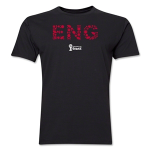 England 2014 FIFA World Cup Brazil(TM) Men's Premium Elements T-Shirt (Black)