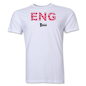 England 2014 FIFA World Cup Brazil(TM) Men's Premium Elements T-Shirt (White)